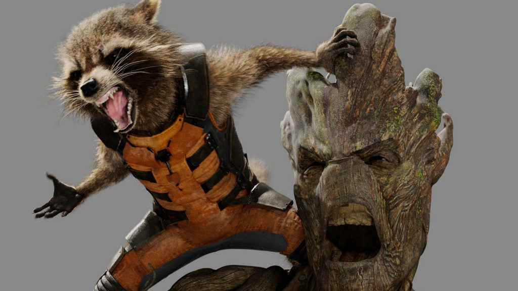 Personnages CG dans Guardians of the galaxy